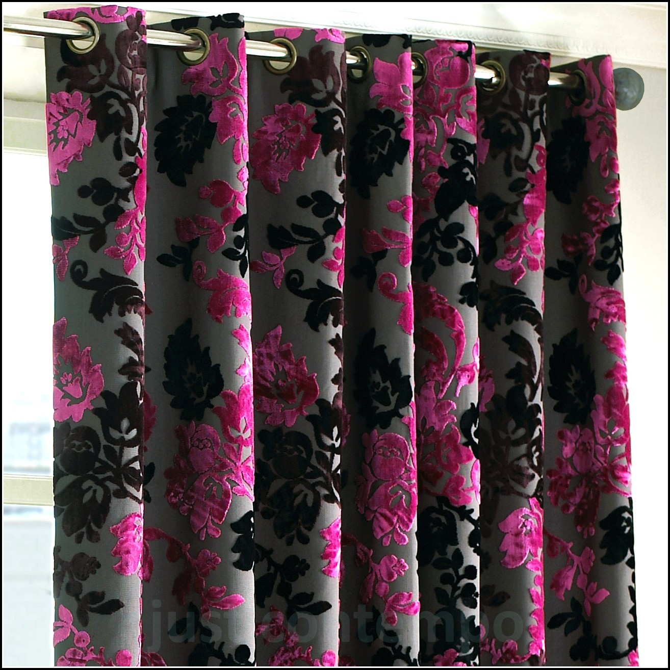 Pink And Black Curtains And Bedding Curtains Home