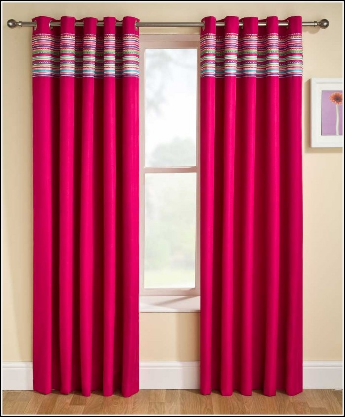 Pink And Brown Blackout Curtains