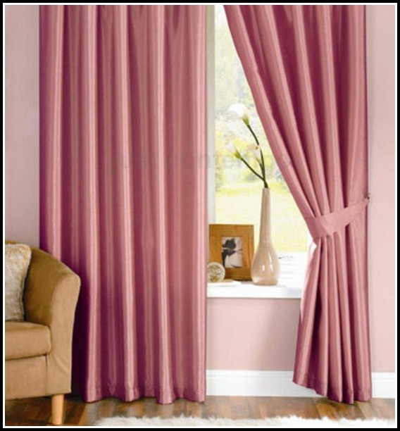 Pink And Brown Kitchen Curtains