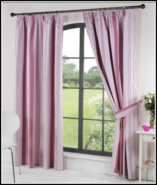 Pink And Brown Striped Curtains