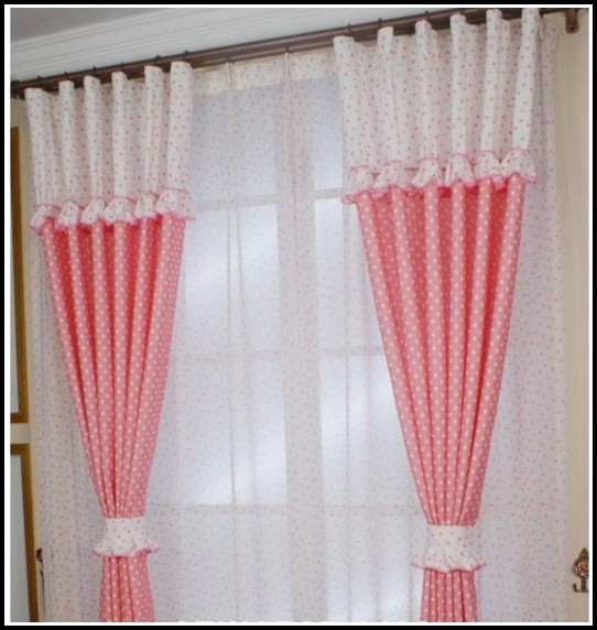 Pink And White Damask Curtains