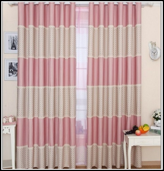 Pink Polka Dot Curtains 72 Drop