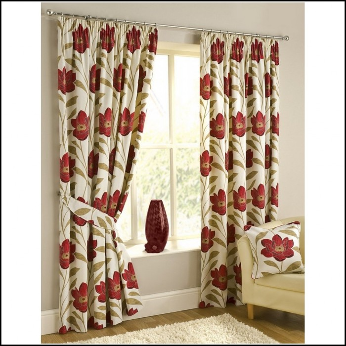 Red And Brown Plaid Curtains