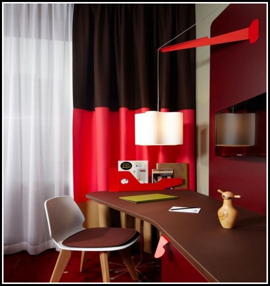 Red and cream curtains for living room
