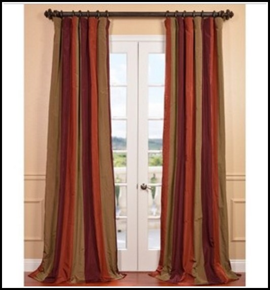 Red And Tan Plaid Curtains