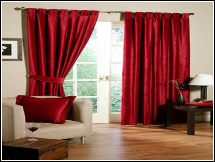 Bright red curtains living room curtains home design ideas 8ange91qgr27440 for Red and cream curtains for living room