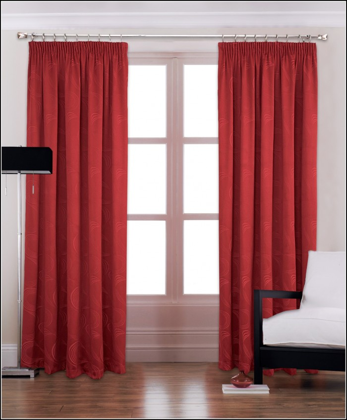 Red Patterned Curtains Living Room