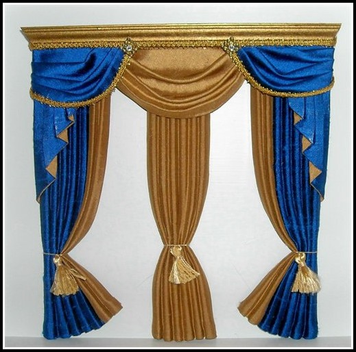 Royal Blue And Gold Curtains