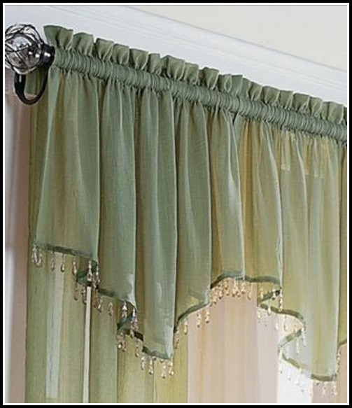 Sheer Curtains With Beaded Valance