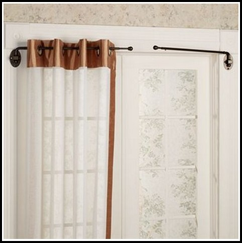 Antique swing out curtain rods curtains home design Short curtain rods