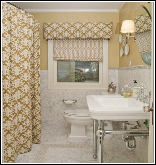Small Bathroom Window Curtains Ideas