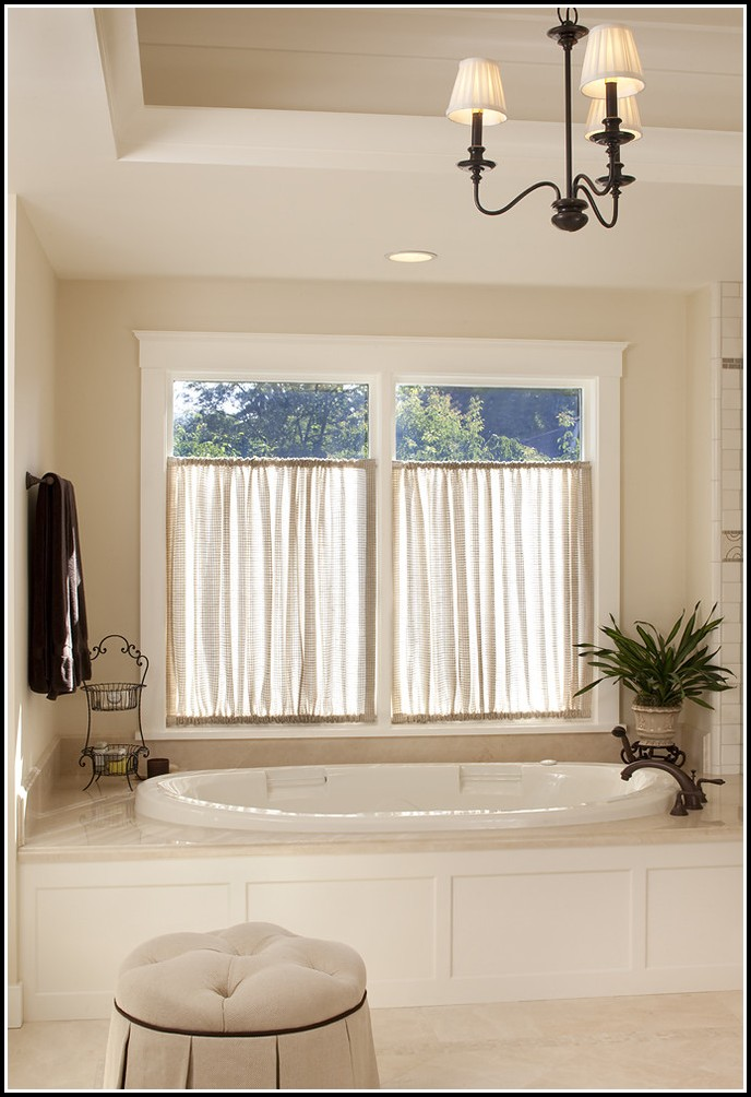 Small Curtains For Bathroom Windows
