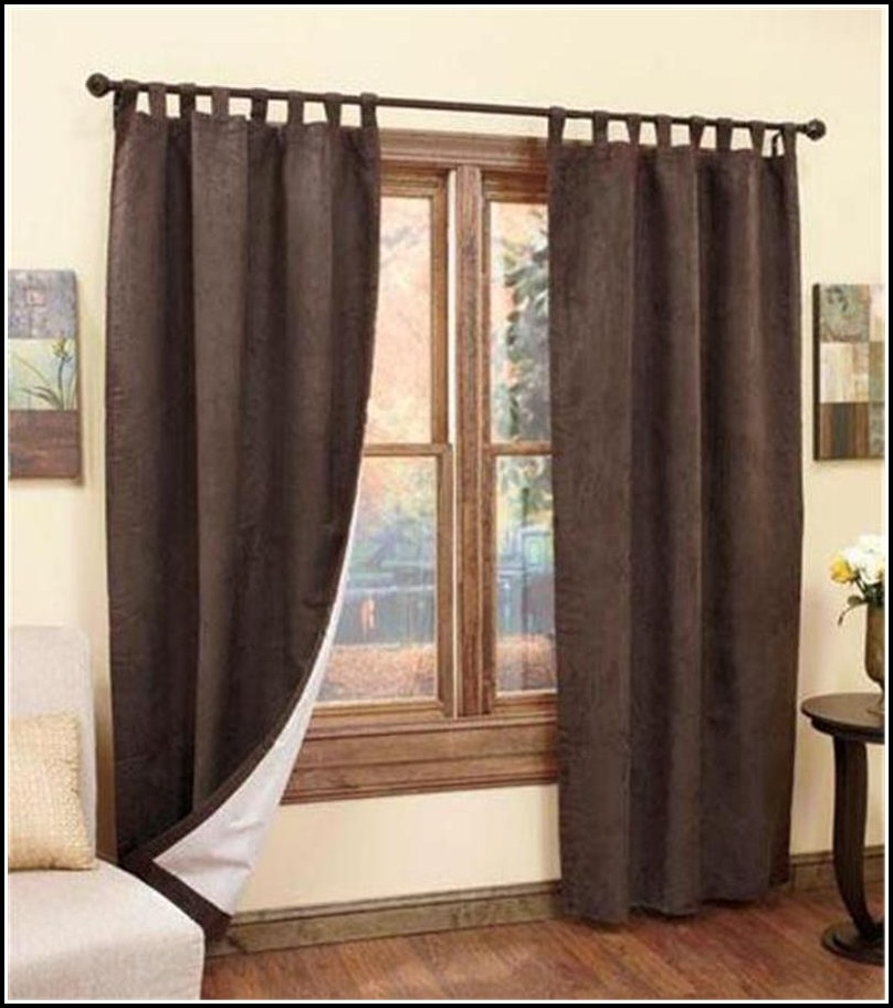 Tab top insulated window curtain curtains home design for Best insulated glass windows