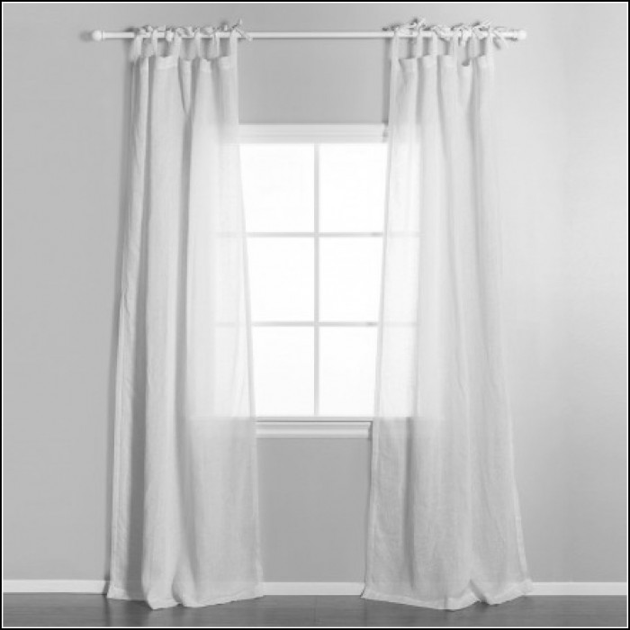 Tab Top Semi Sheer Curtains