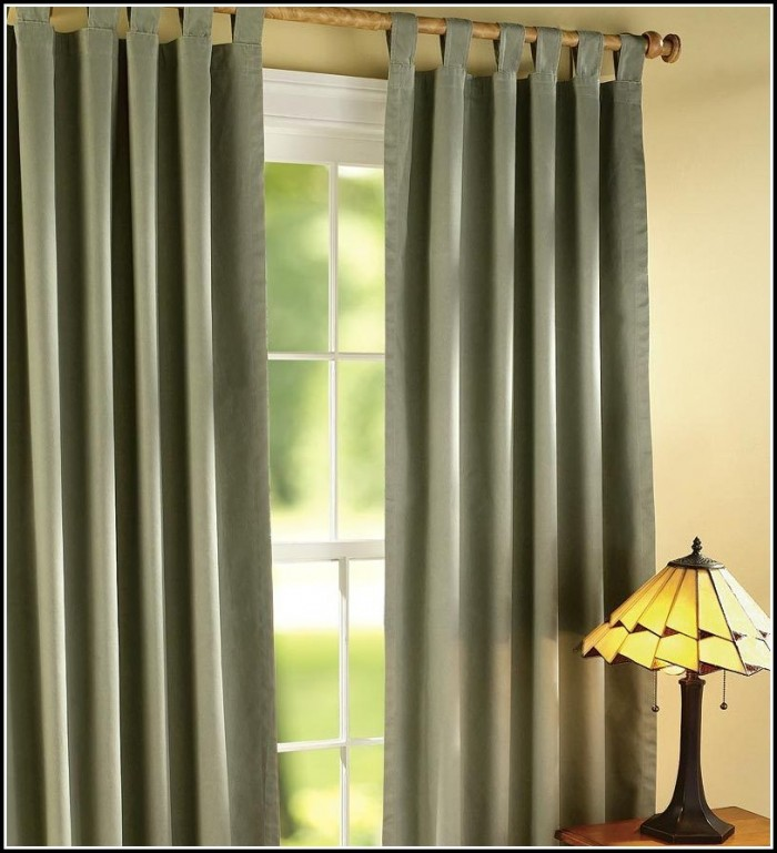 Thermal Lined Tab Top Curtains