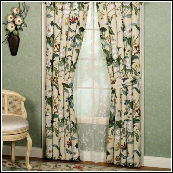 Waverly Vintage Rose Curtains 32