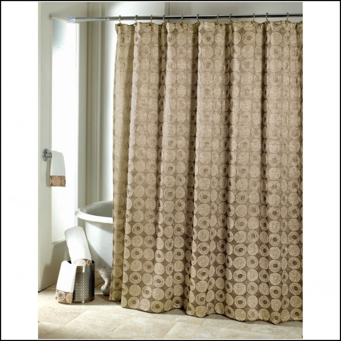 White And Gold Damask Curtains