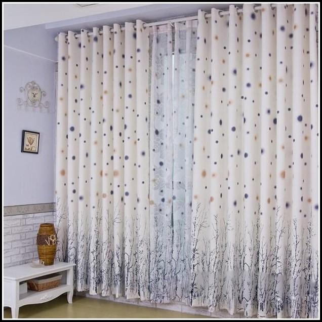 White And Gold Polka Dot Curtains