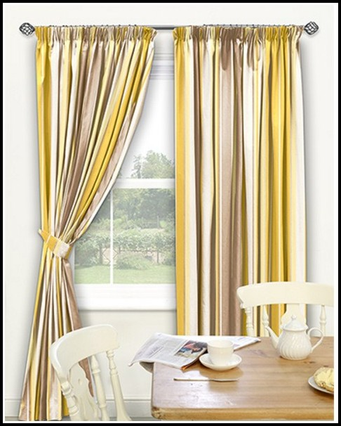 Yellow And Brown Kitchen Curtains