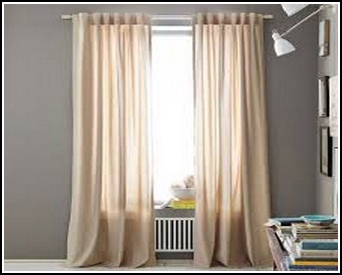 White Blackout Curtains 63 Inch
