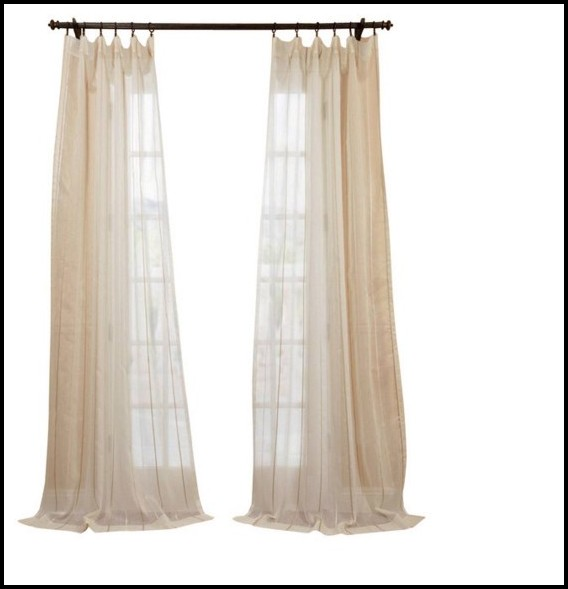 White Linen Tie Top Curtains Curtain Menzilperde Net