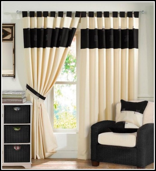 White Tab Top Thermal Curtains