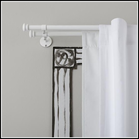 White Wood Curtain Rods And Finials