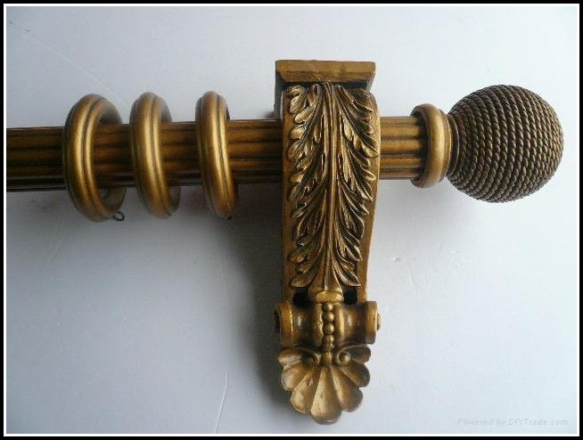 10 Ft Wooden Curtain Rod