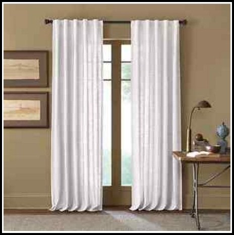108 Inch Curtain Panels White