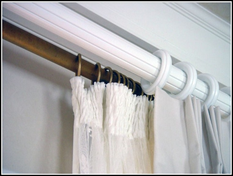 Antique White Wood Curtain Rods
