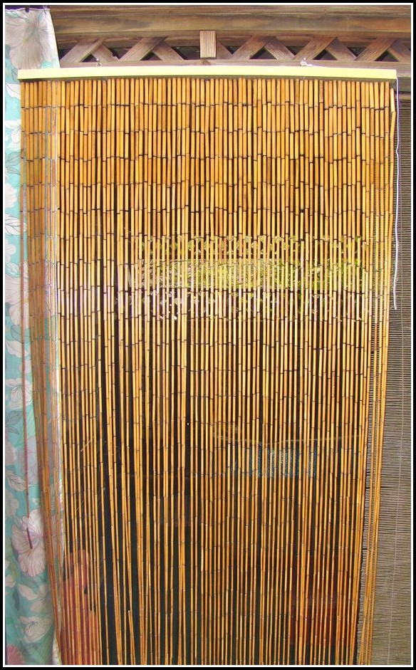 Bamboo Beaded Curtains For Doors Curtains Home Design