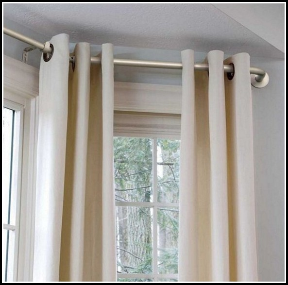 Bay Window Curtain Rod Diy
