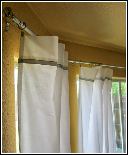 Bay Window Curtain Rods Ceiling Mounted