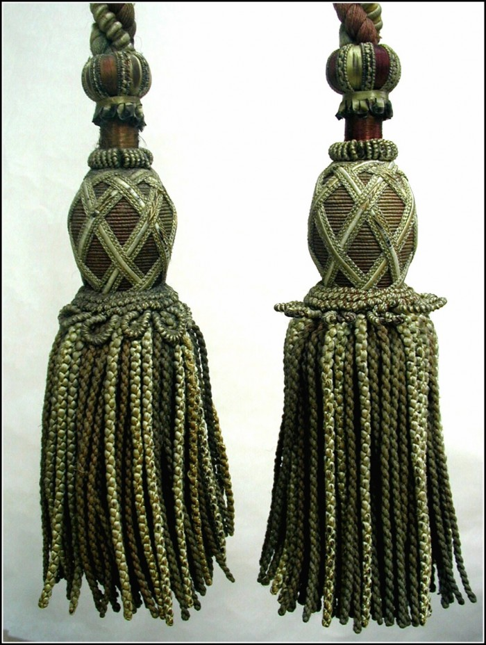 Beaded Tassel Curtain Tie Backs