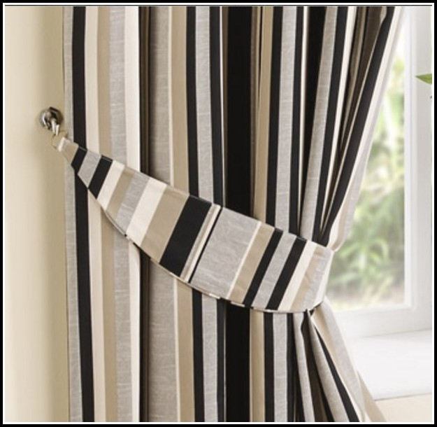 Beige And Black Kitchen Curtains