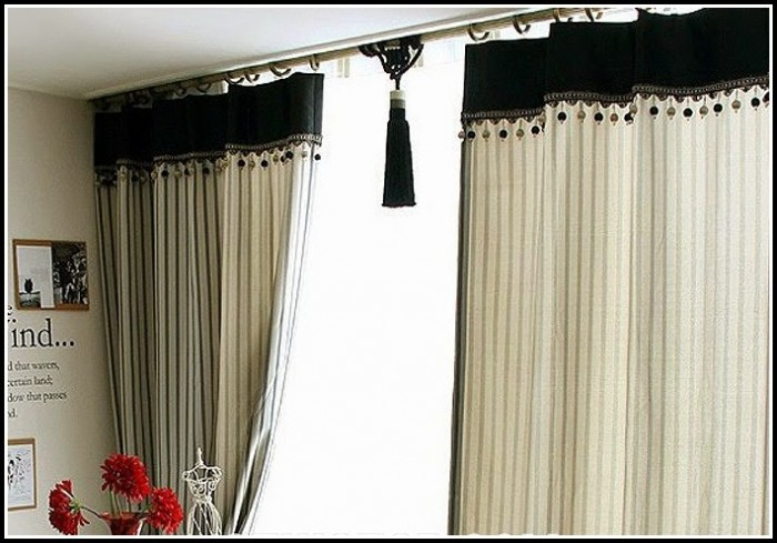 Beige And Black Shower Curtains