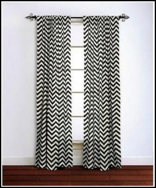 Black And White Chevron Curtain Panel