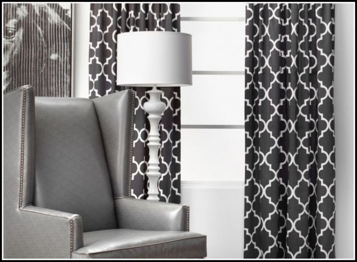 Black And White Circle Pattern Curtains
