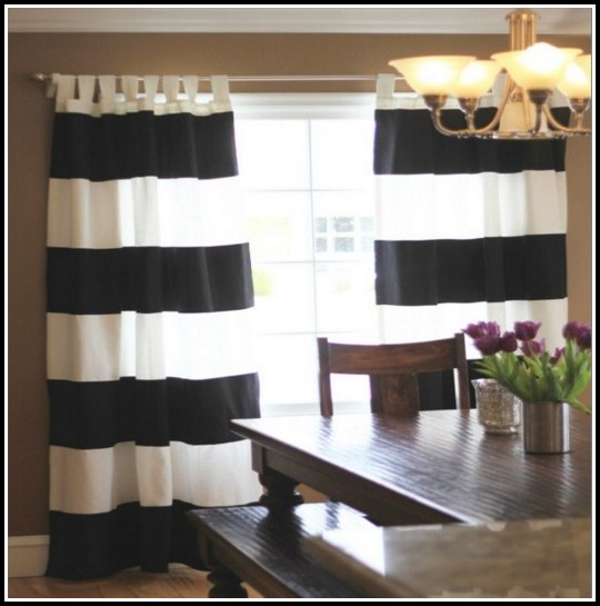 Black And White Curtains Striped