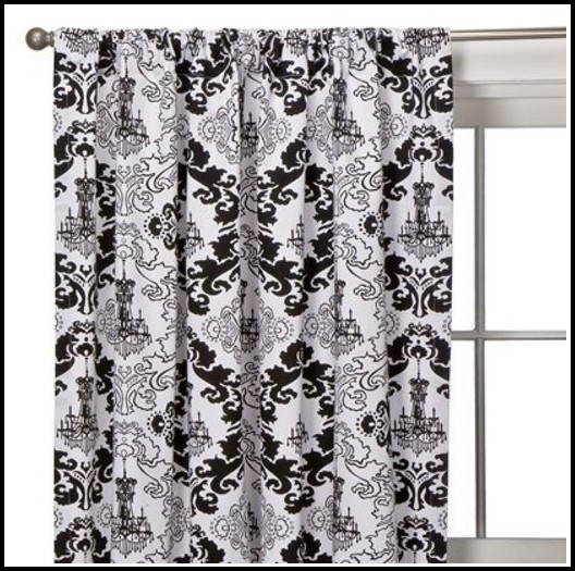 Black And White Damask Curtains 108