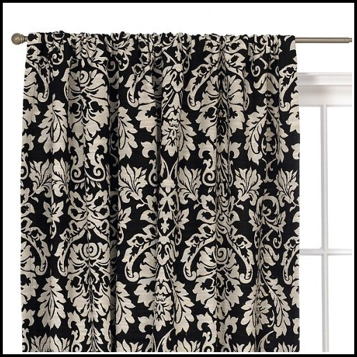 Black And White Damask Curtains Canada