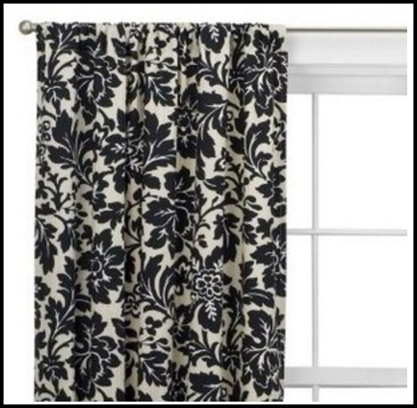 Black And White Damask Curtains Target