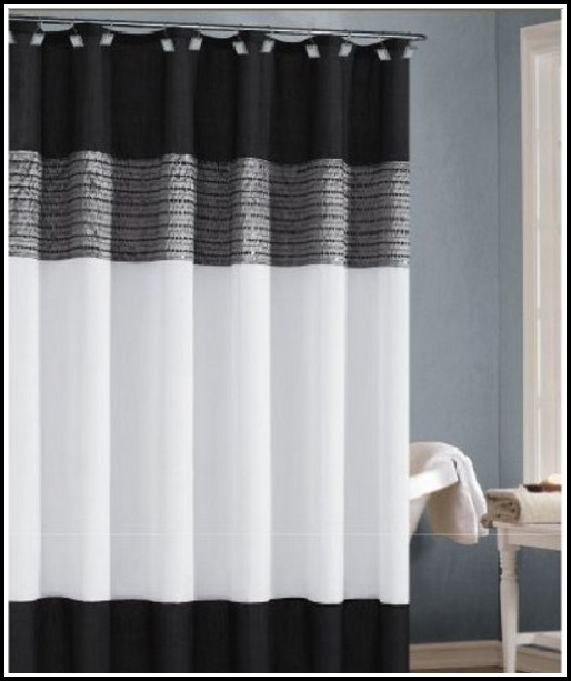 Black And White Damask Panel Curtains