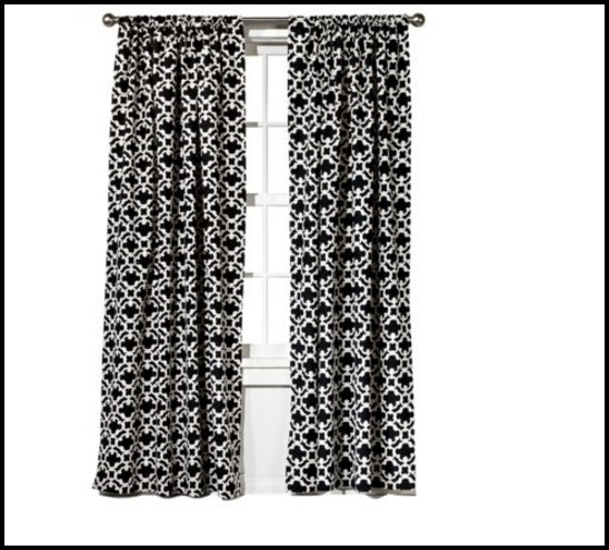 Black And White Damask Shower Curtain Target - Curtains : Home ...