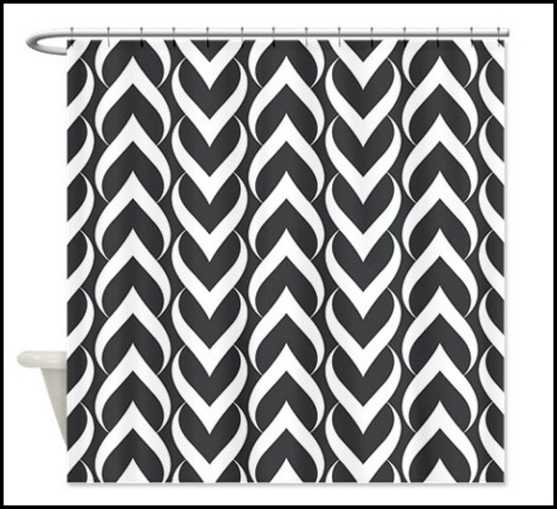 Black And White Geometric Pattern Curtains