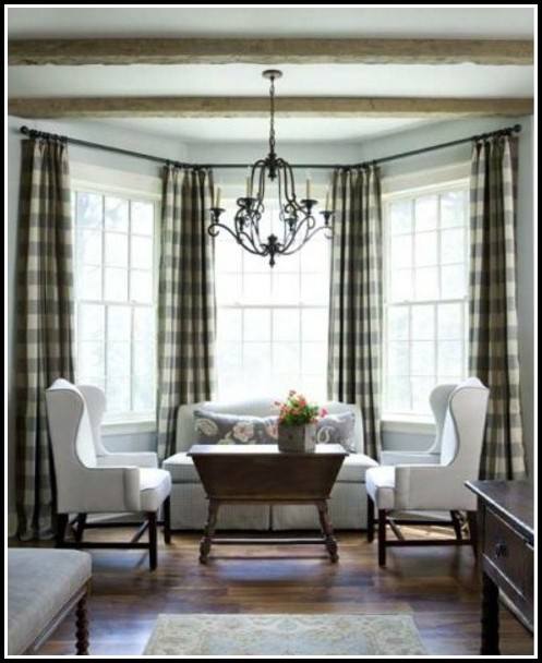 Black And White Gingham Check Curtains