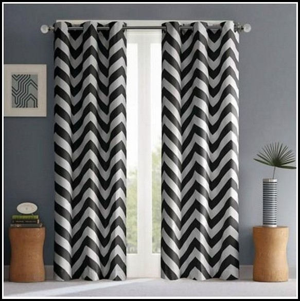 Black And White Juvi Curtain Panel
