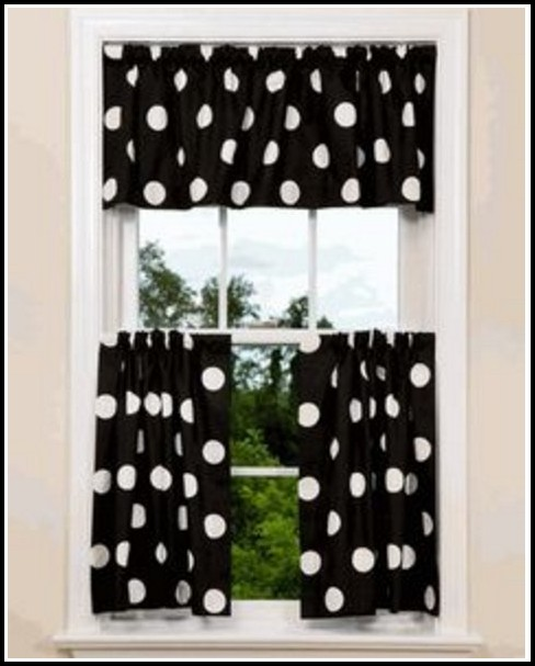 Black And White Polka Dot Bedroom Curtains