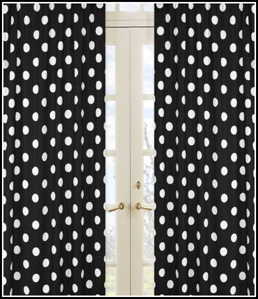 Black And White Polka Dot Sheer Curtains