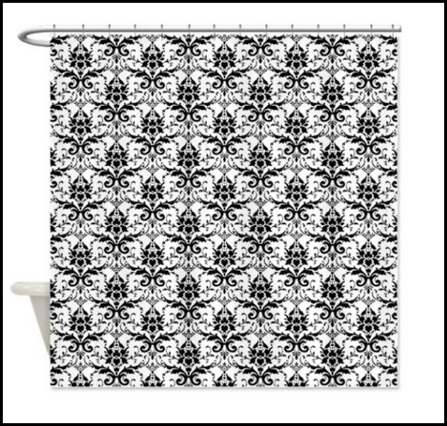 Black And White Square Pattern Curtains